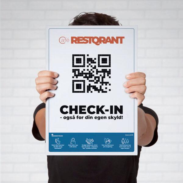 RestQR A3 poster smitteopsporing qr-kode
