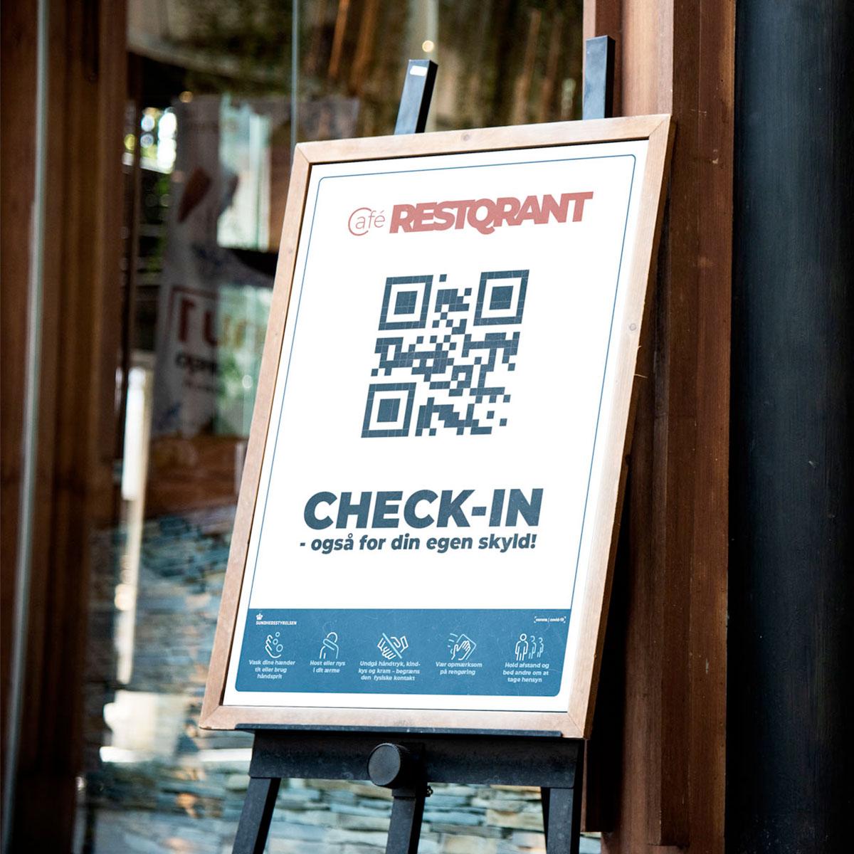 RestQR gadestander - elektronisk registrering og smitteopsporing