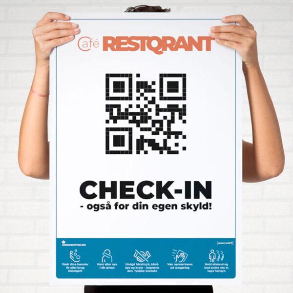 RestQR - plakat - smitte- og kontaktopsporing