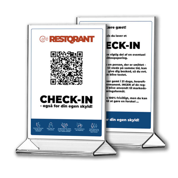 RestQR tablestands - smitteopsporing digital registrering