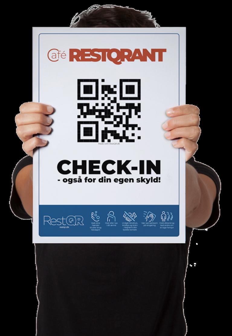 Check-in for din egen skyld poster | RestQR